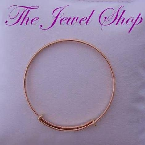9CT YELLOW GOLD ADULT TEENAGER 60mm-68mm EXPANDABLE BANGLE 8g