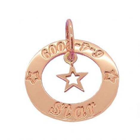 9CT ROSE GOLD 25mm CIRCLE OF LIFE PERSONALISED FAMILY NAME PENDANT LUCKY STAR NECKLACE -25mm-HR3428-9R