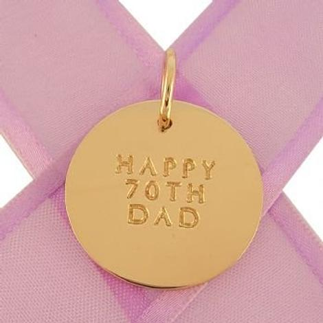 25mm COIN CIRCLE OF LIFE PERSONALISED 9CT GOLD NAME PENDANT -9Y-25mm