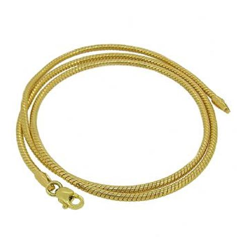 9ct Yellow Gold 2.25mm Snake Chain Necklace