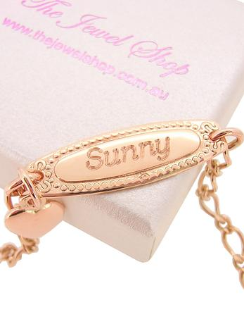 Add a name to be engraved on a baby bracelet