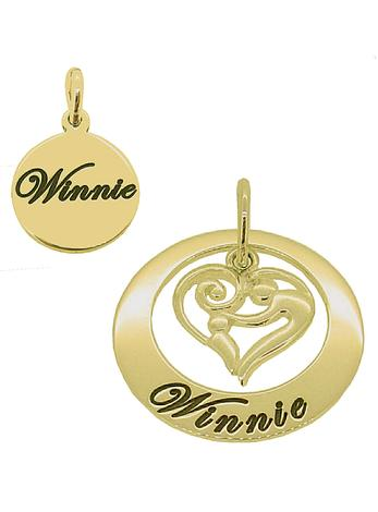 Mother and Baby Name Circle of Life Personalised Pendants in 9ct Gold