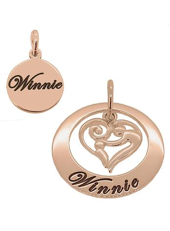 Mother and Baby Name Circle of Life Personalised Pendants in 9ct Rose Gold