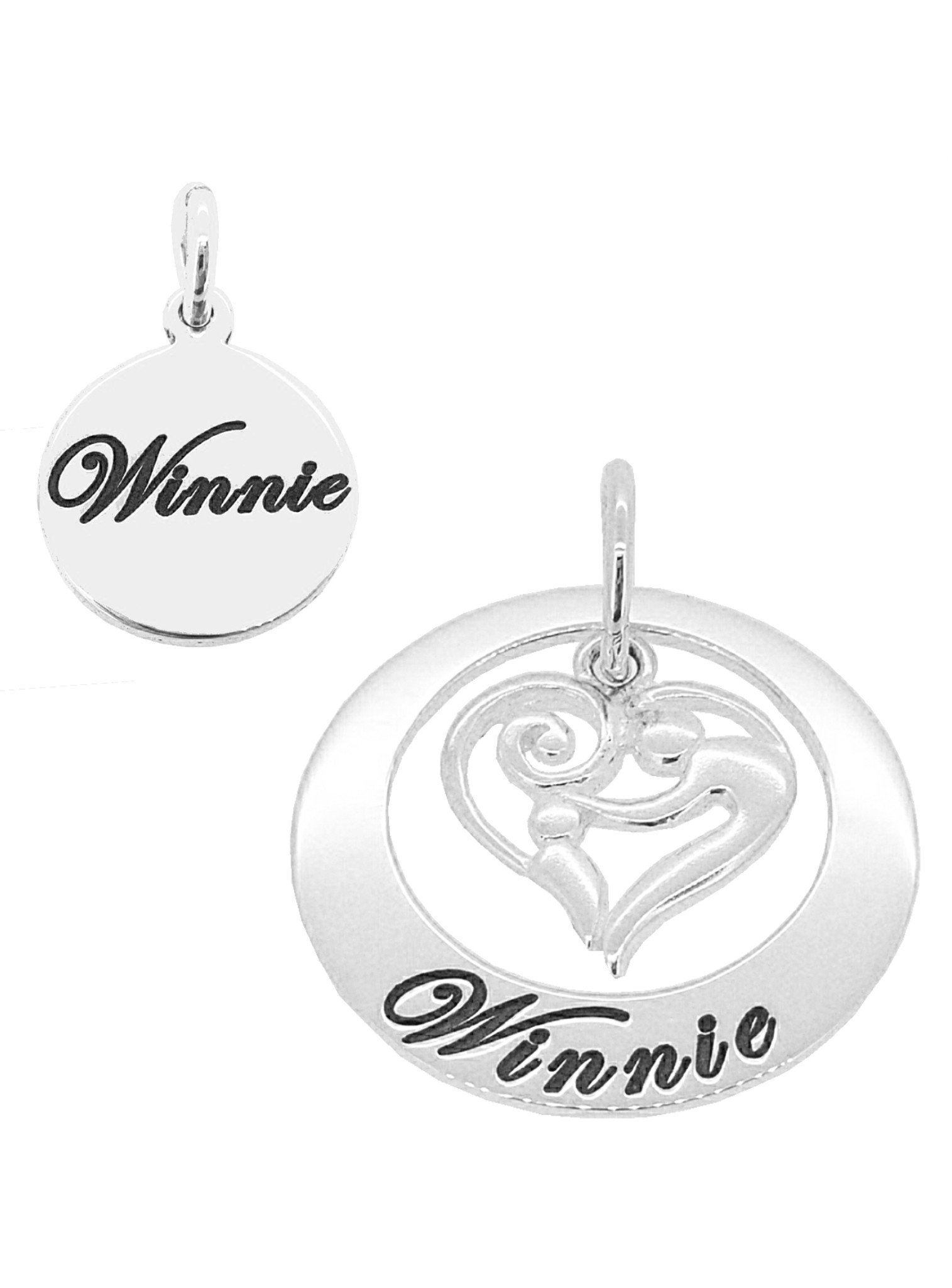 Mother and baby name circle of life personalised pendants in 9ct wh mother and baby name circle of life personalised pendants in 9ct white gold aloadofball Images