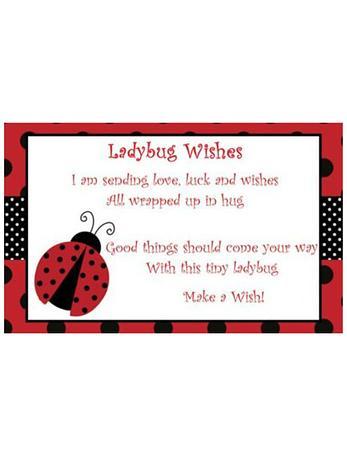 Free Gift Tag Ladybug Wishes