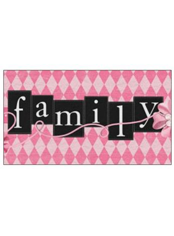 Free Gift Tag Pink Family