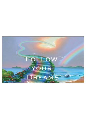 Free Gift Tag Follow Your Dreams