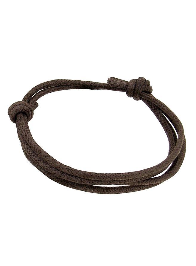 Unisex Brown Wrap Cord Bracelet