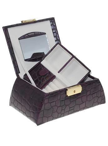Moroco Dark Purple Medium Size Womens Jewellery Box