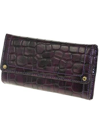 Moroco Womens Dark Purple Jewellery Travel Wrap Wallet