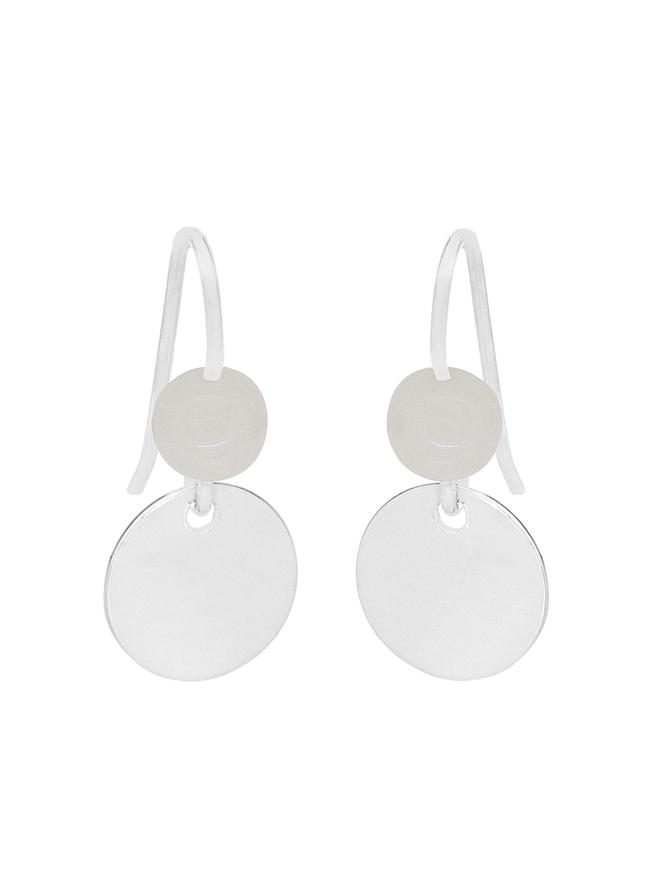 Allure Coin Tag Moonstone Minimalist Earrings Love Britty
