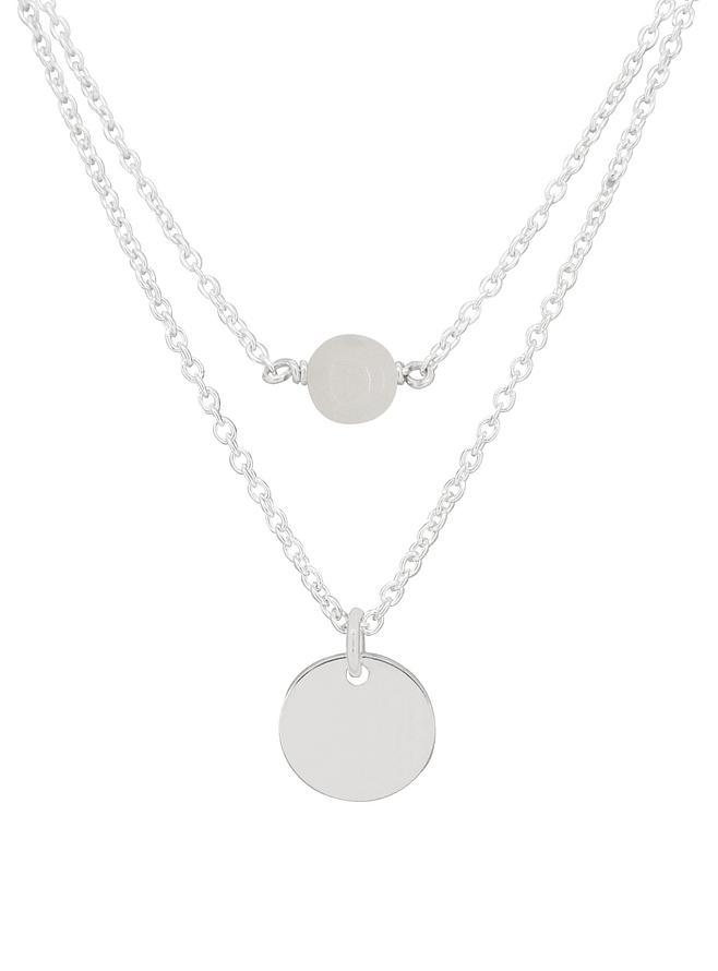 Allure Coin Tag Moonstone Minimalist Layered Necklace Love Britty
