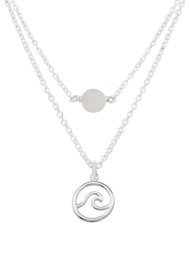 Ocean Wave Moonstone Minimalist Layered Necklace Love Britty