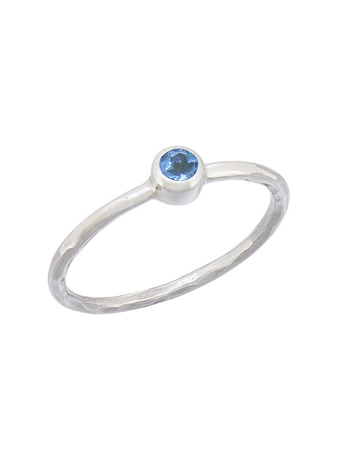 Gemstone Stacking Ring with Topaz in Sterling Silver Love Britty