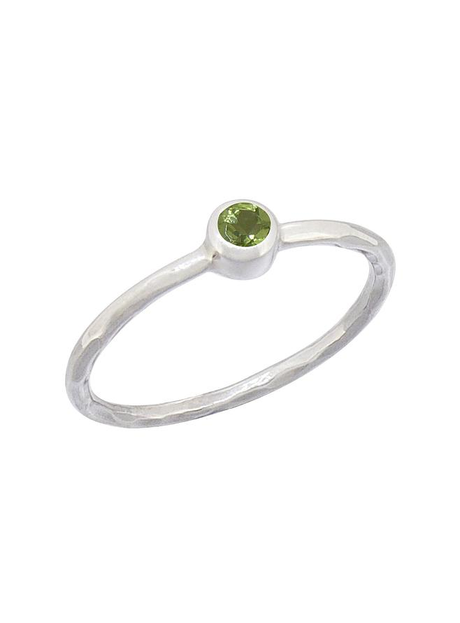 Gemstone Stacking Ring with Peridot in Sterling Silver Love Britty