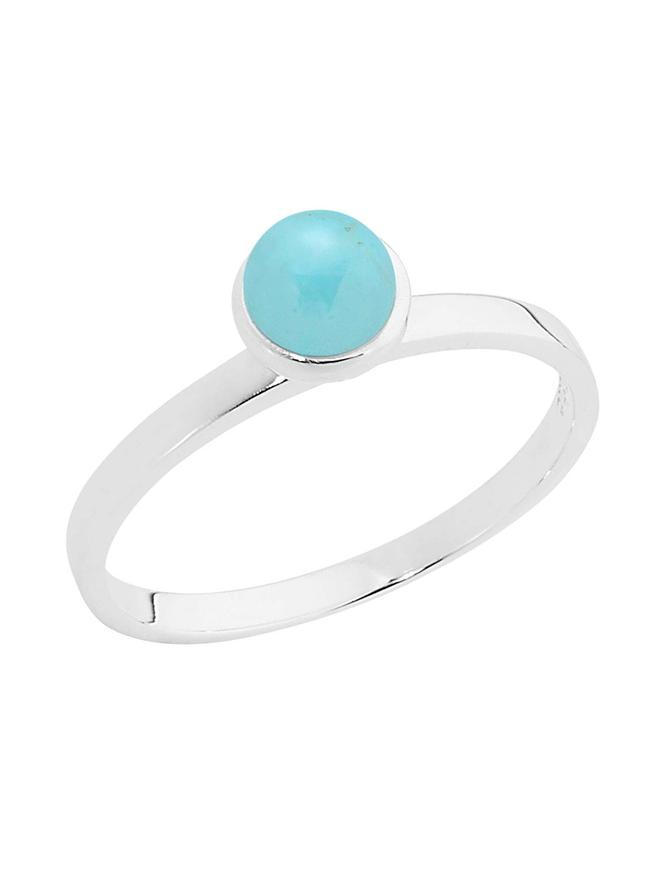 Pastiche Turquoise Stacking Ring in Sterling Silver