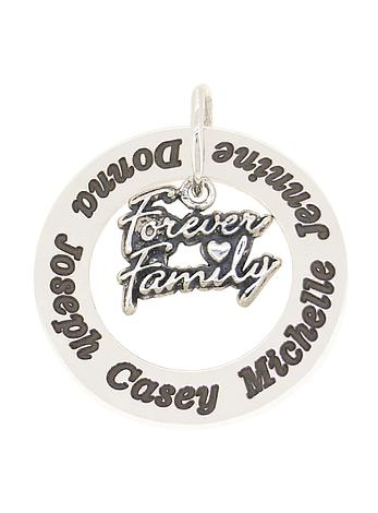 Circle of Life Personalised Family Forever Name Pendant
