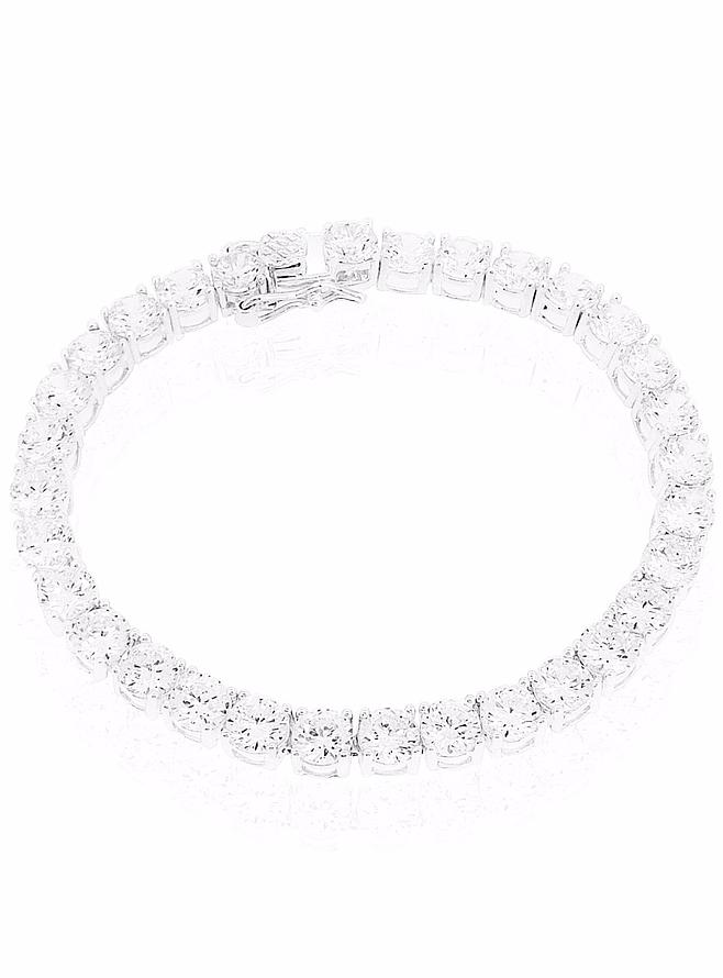 Chloe CZ 5mm Tennis Bracelet in Sterling Silver