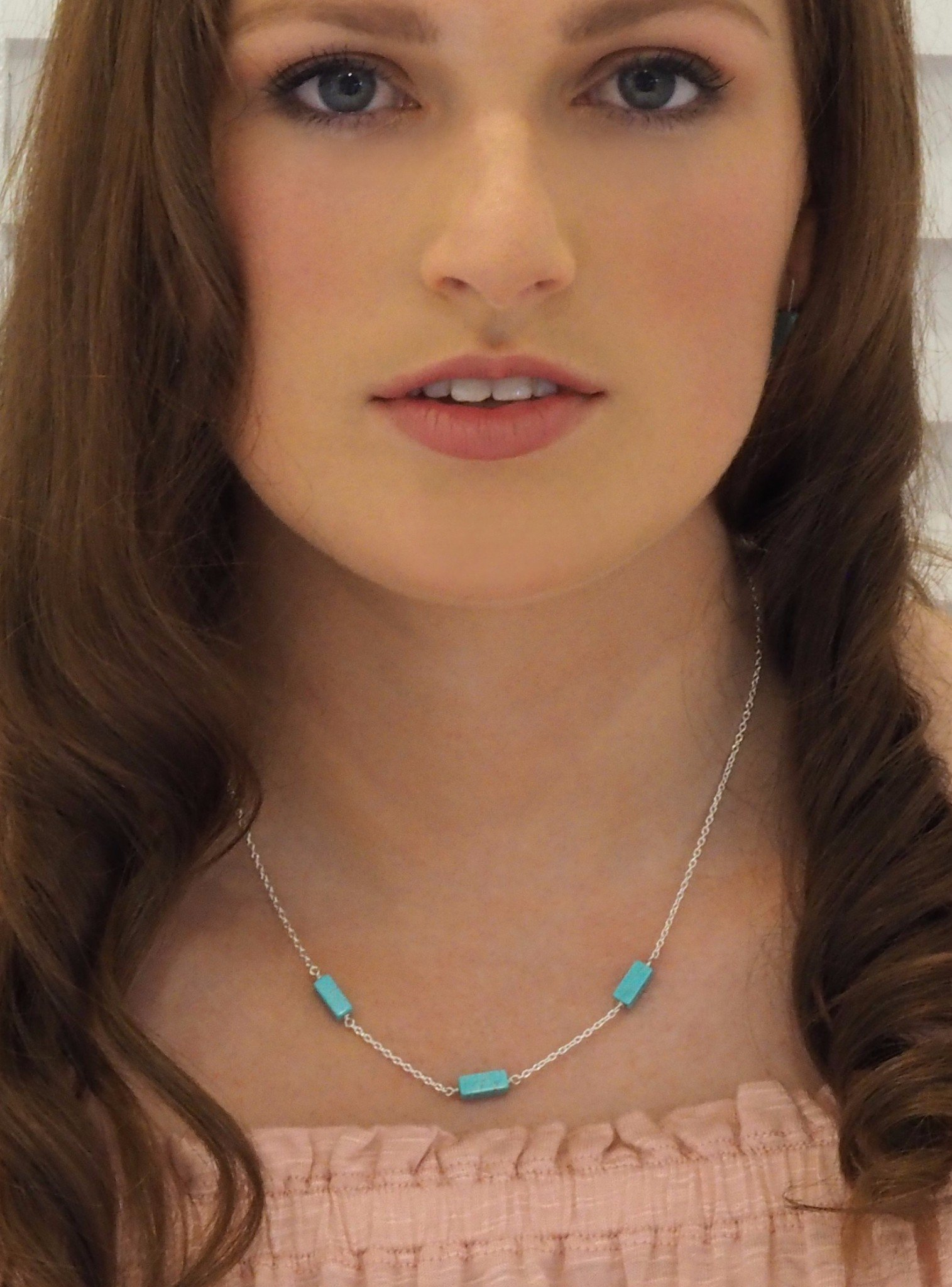 Love Britty Rectangle Seaside Necklace in Sterling Silver