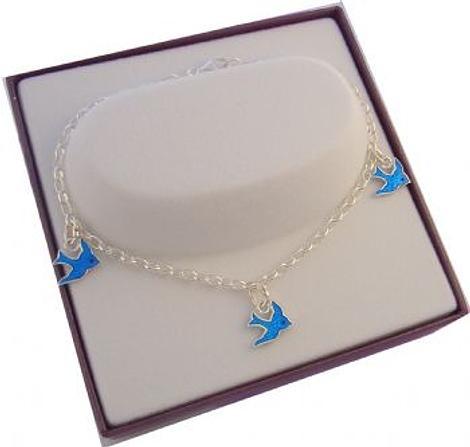 Adjustable Sterling Silver Bluebird Belcher Bracelet