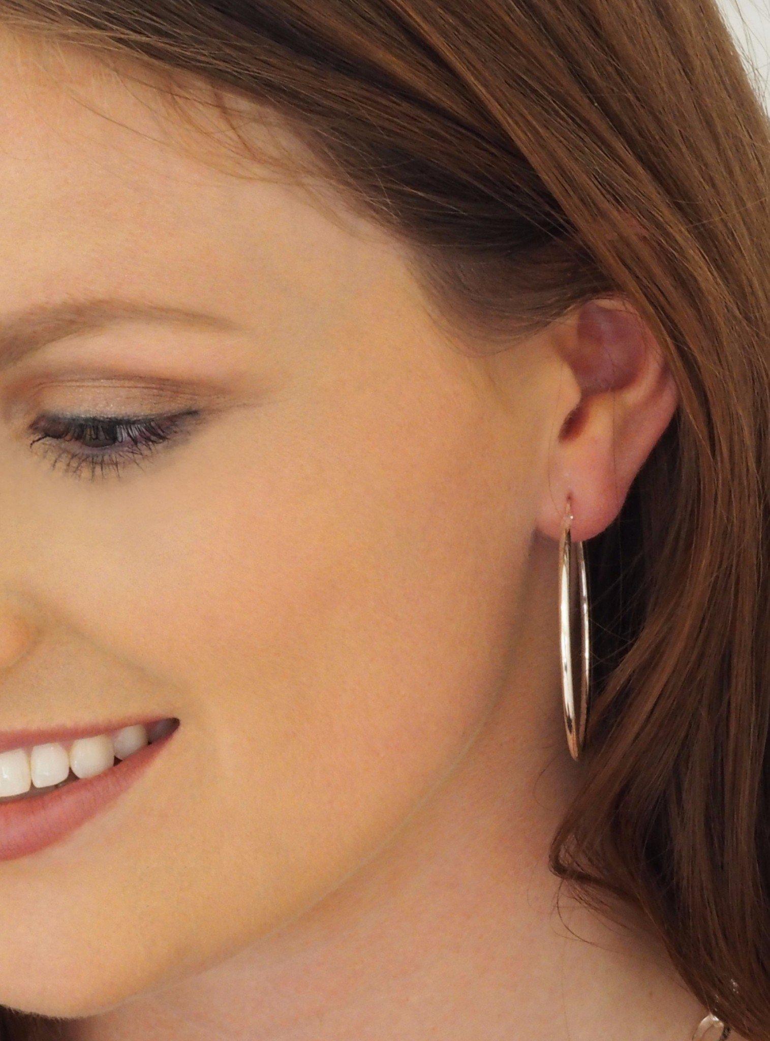 Reagan Gypsey Hoop Earrings in Steel