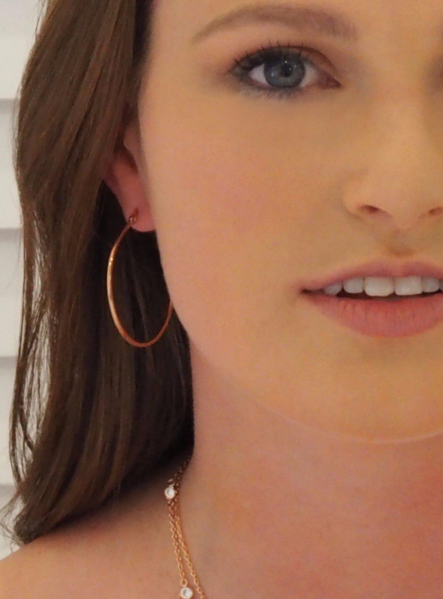 Reagan Gypsey Hoop Earrings in Rose Gold Steel