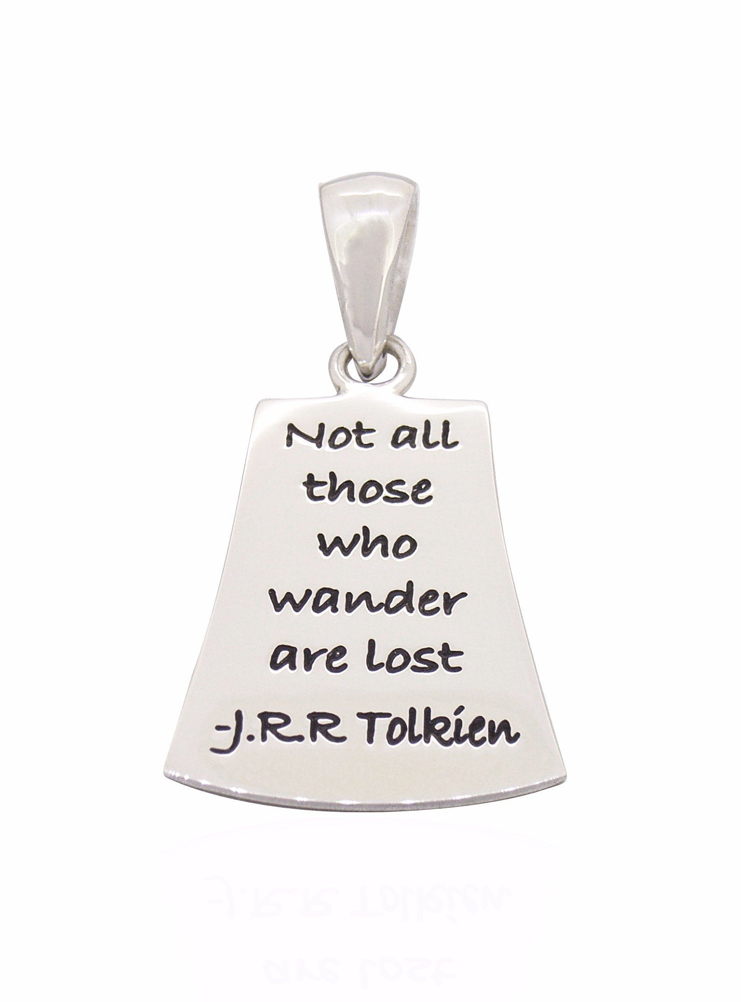 Not all those who wander Pendant in Sterling Silver