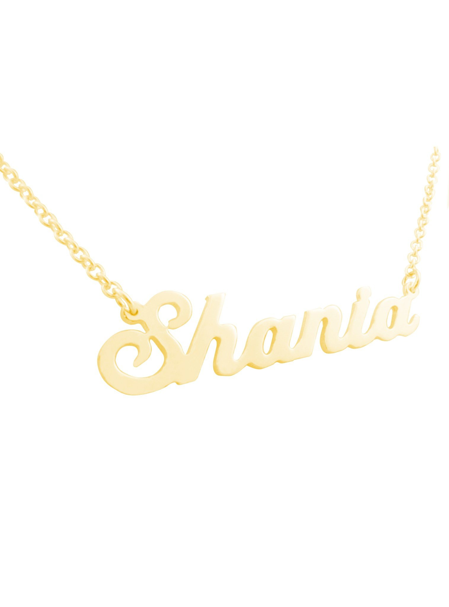 Name Necklace in Solid 9ct White Yellow Rose Gold