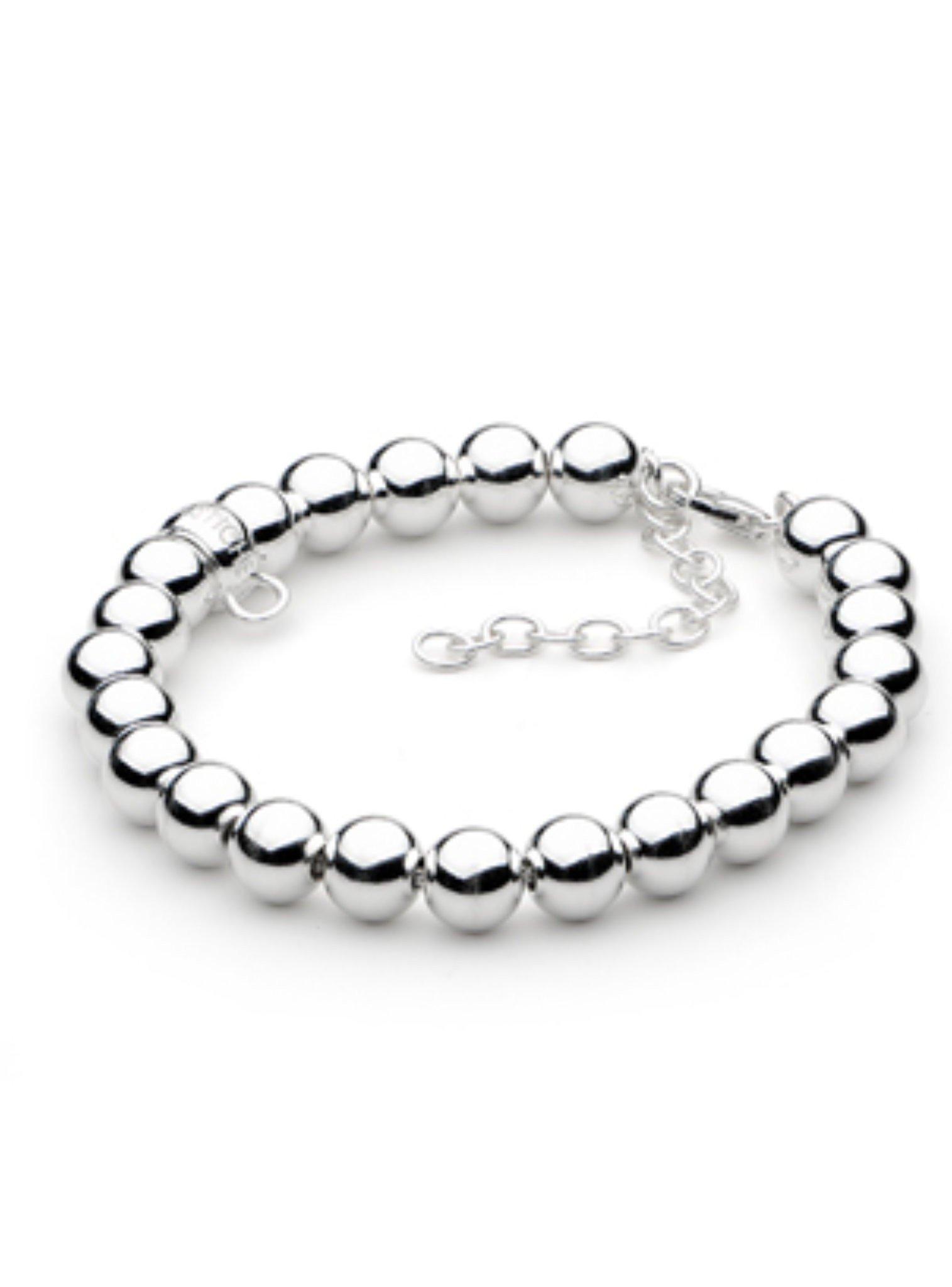 Ball Bead Bracelet in 8mm Sterling Silver