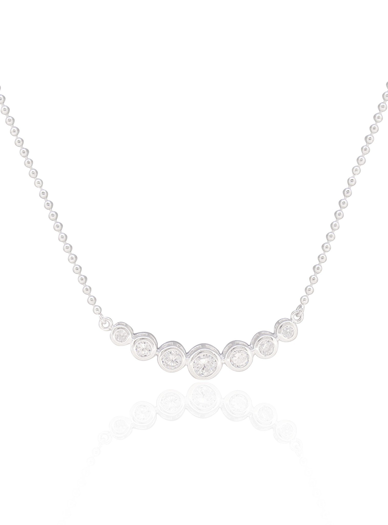 Elsa CZ Necklace in Sterling Silver