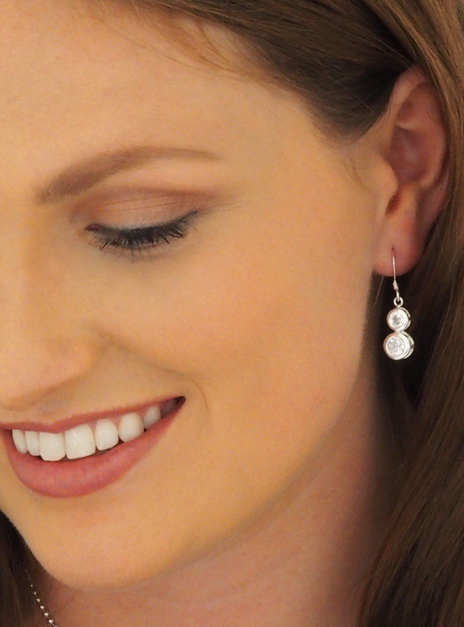 Elsa CZ Earrings in Sterling Silver