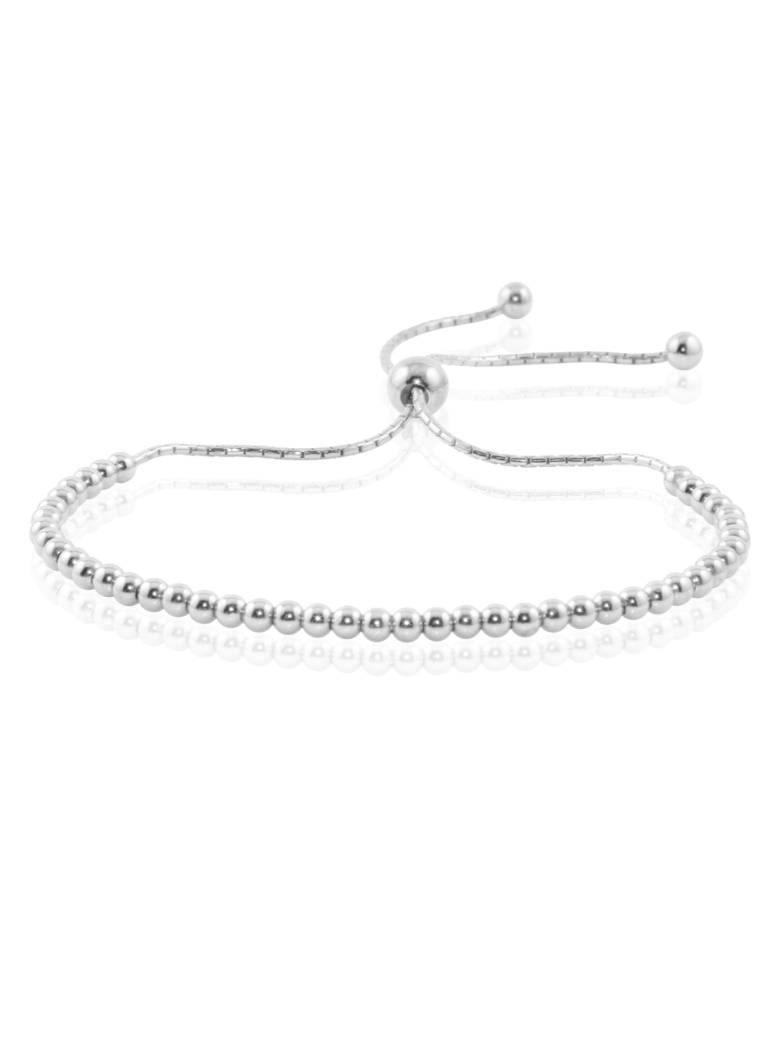 Elise Ball Bead Bracelet in Sterling Silver
