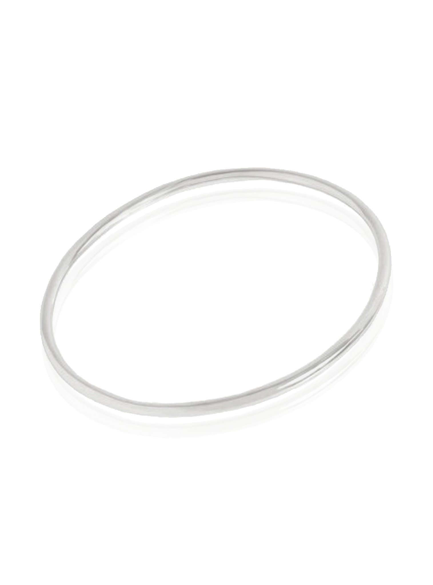 Sterling Silver 2.5mm Round Traditional Golf Bangle