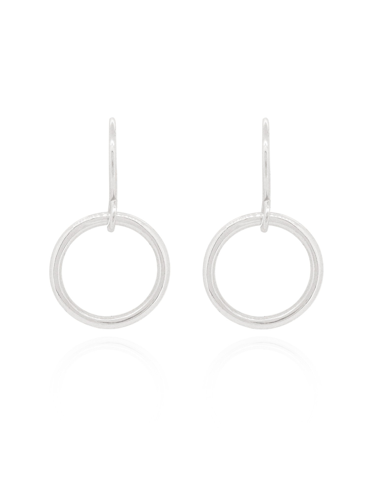 Hope Circle Earrings in Sterling Silver