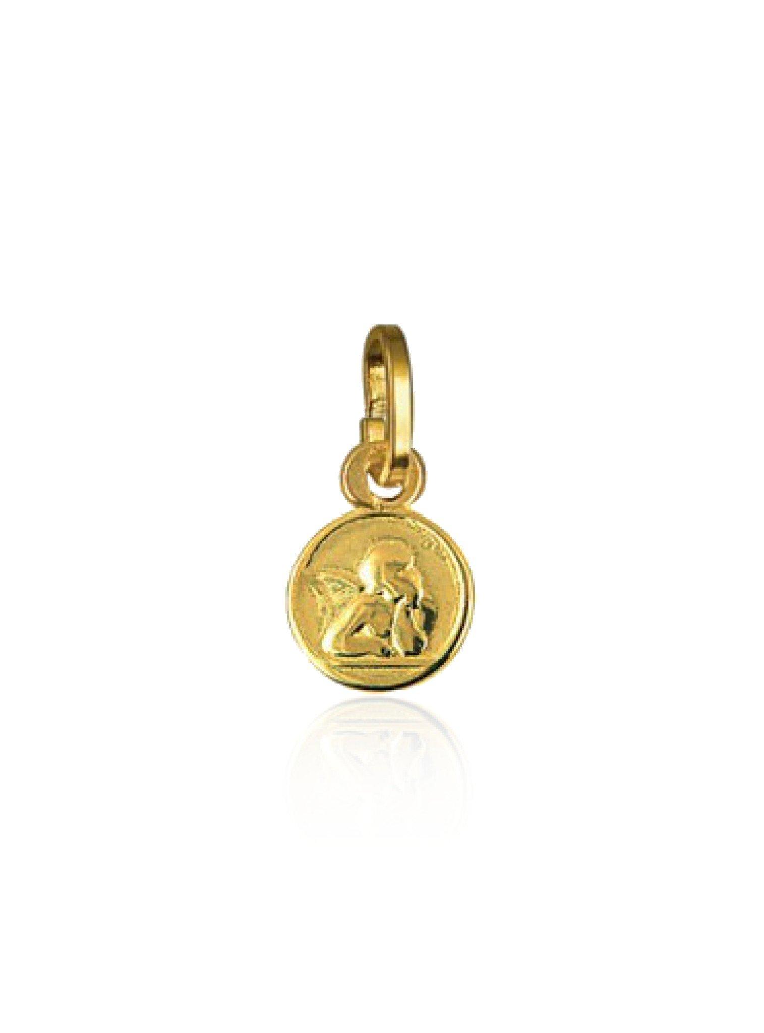 Tiny Cherub Guardian Angel Charm Solid 9ct Gold