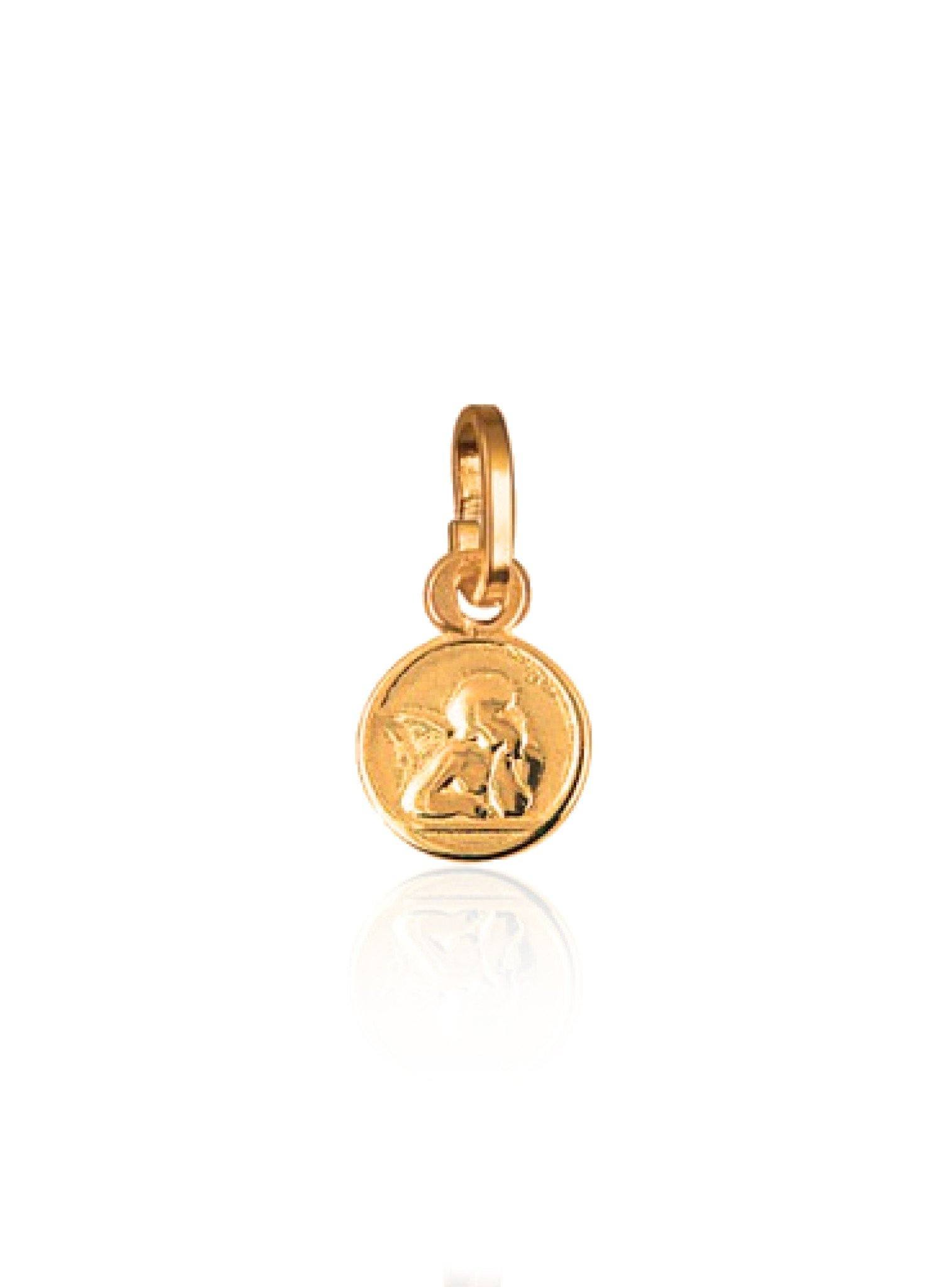 Tiny Cherub Guardian Angel Charm Solid 9ct Rose Gold