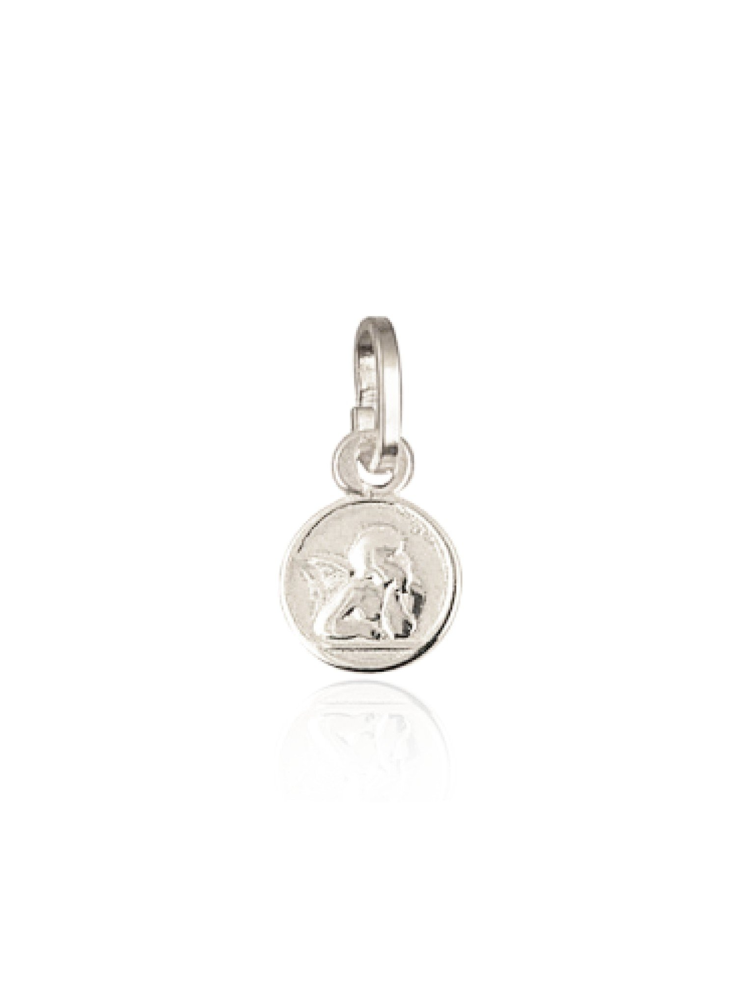 Tiny Cherub Guardian Angel Charm Sterling Silver
