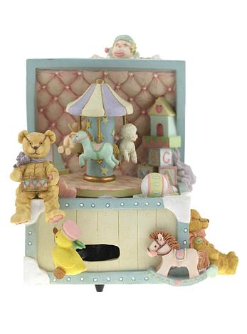 Merry Go Round Toy Box Musical Carousel