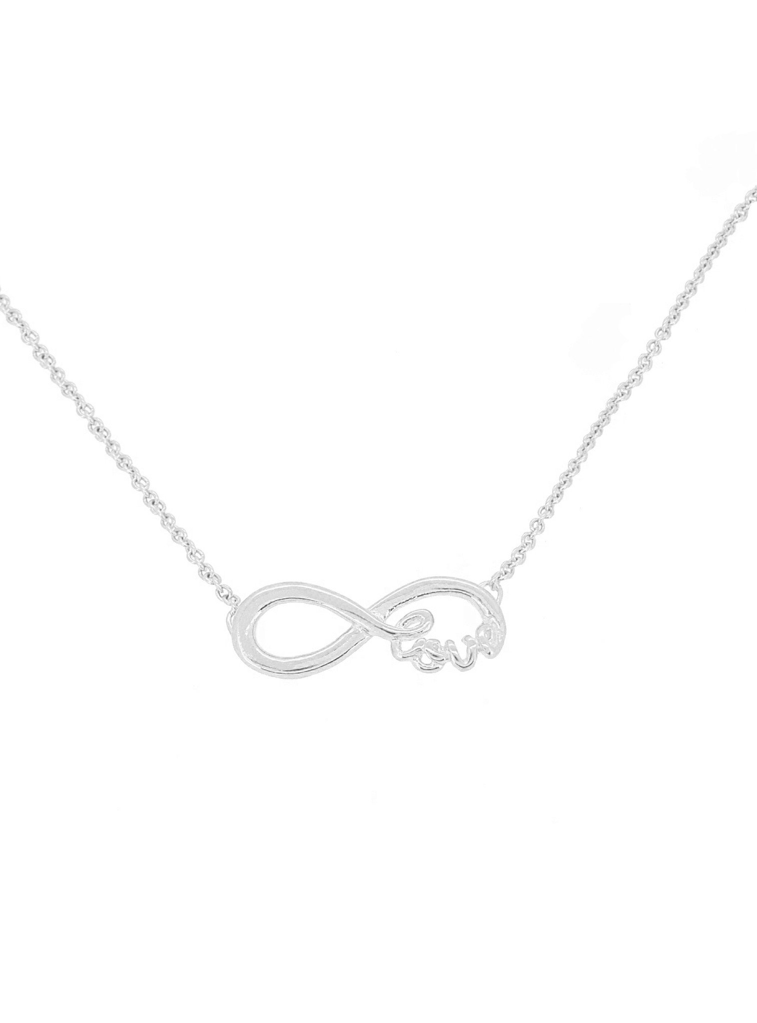 Infinite Love Infinity Charm Necklace in Sterling Silver
