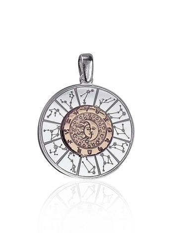 Astrology Charm Pendant in Sterling Silver