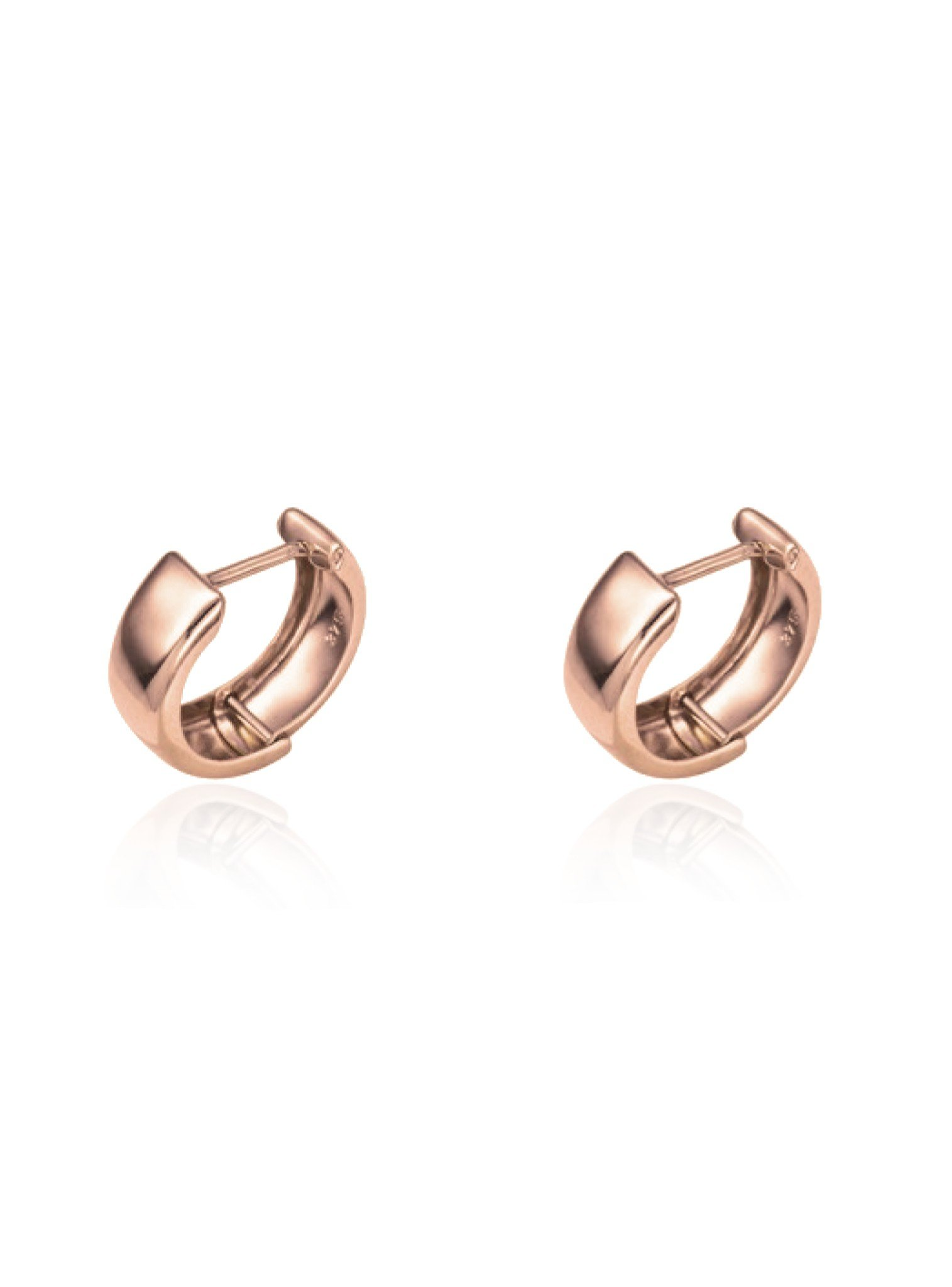 Small Huggie Hoop Earrings in 9ct Rose Gold