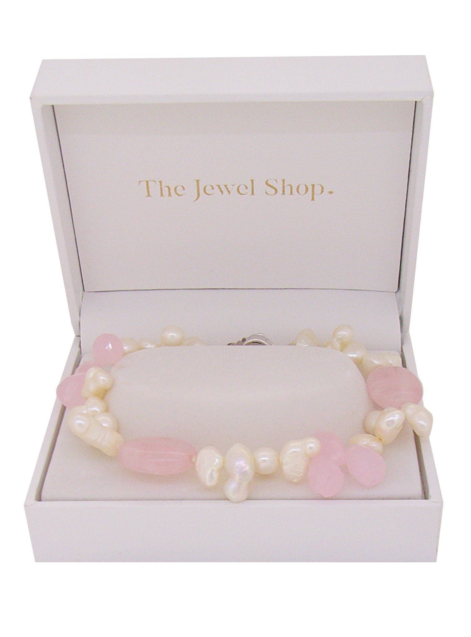 Freshwater Pearl and Rose Quartz Bracelet