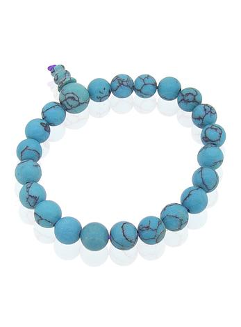 Reconstructed Turquoise Stretch Bracelet