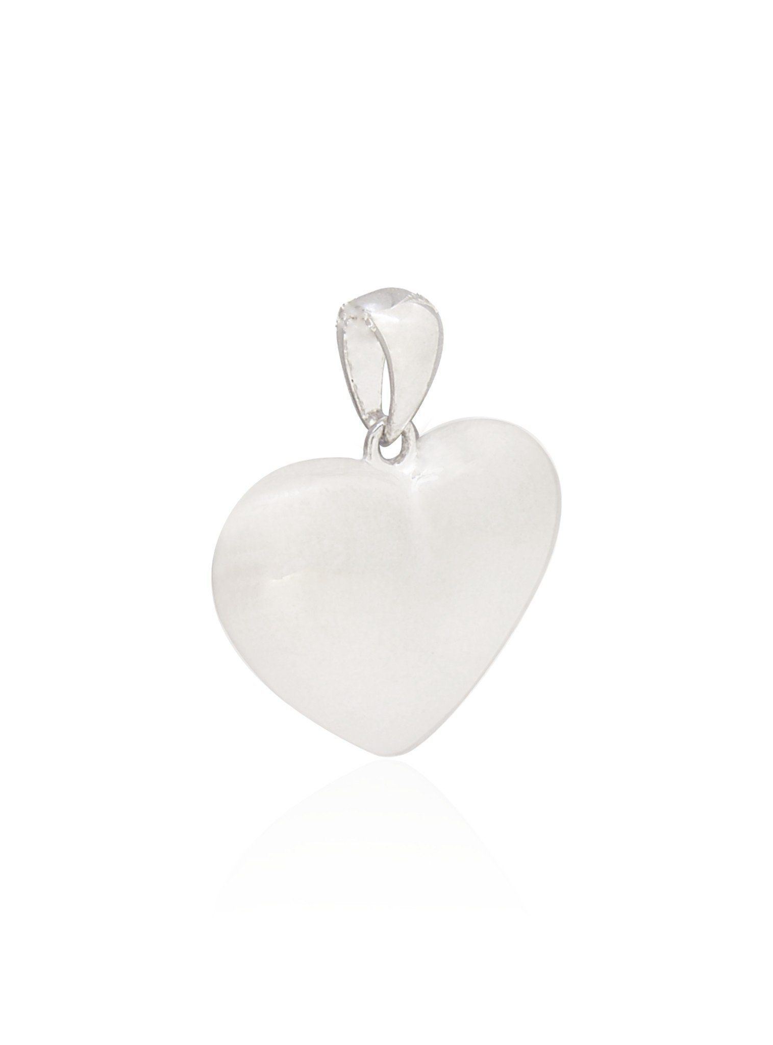Betty Memorial Puffed Heart Pendant in Sterling Silver
