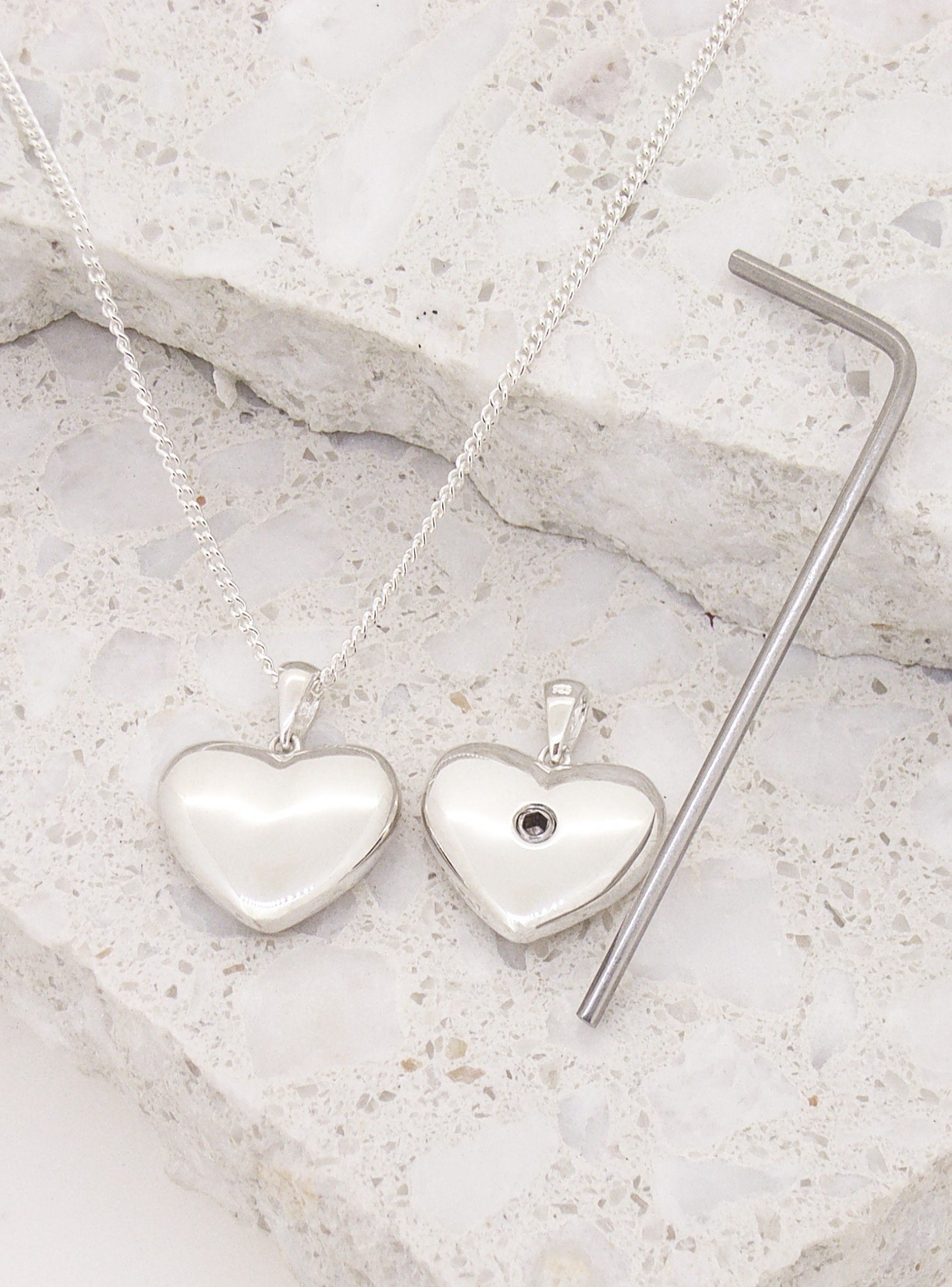 8ff0439e9 Betty Memorial Heart Pendant Necklace in Sterling Silver — The Jewel Shop