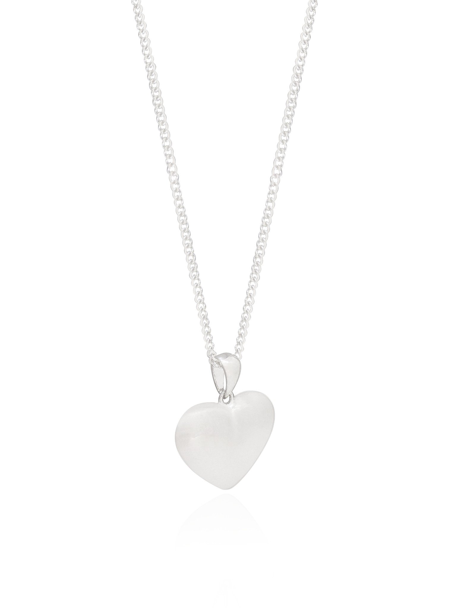 Betty Memorial Heart Pendant Necklace in Sterling Silver