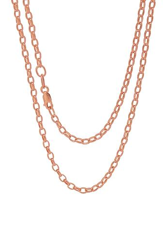 Oval Belcher Necklace Chain in 9ct Rose Gold