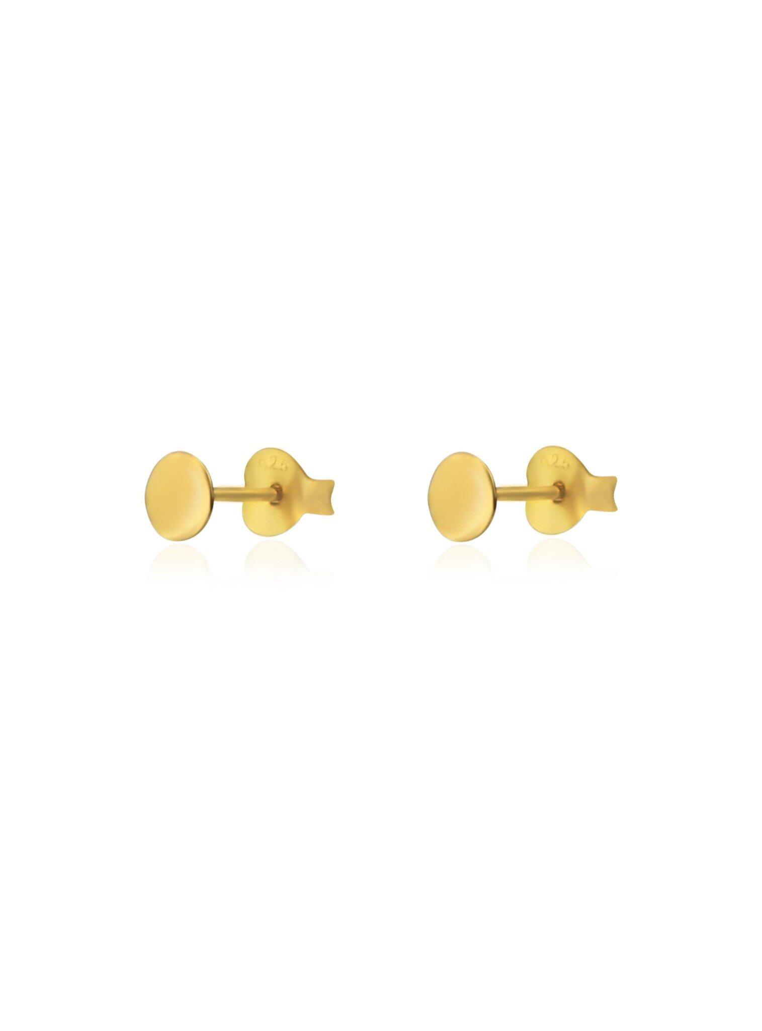 7c0b85793 Dakota Small Flat Circle Stud Earrings in Gold — The Jewel Shop